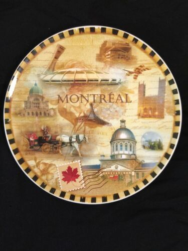 "Vintage Montreal Canada Souvenir Collectible Plate Decor 7"" Collector Travel"