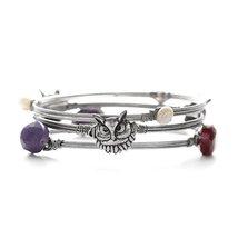 Inspired Silver Silver Owl Purple Plum Stones Fresh Water Pearls & Beade... - $492,17 MXN