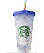 Starbucks Confetti Color Changing Cup  Rainbow Straw Pride Summer 2020 R... - $16.14