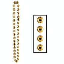 Pack of 12 Gold Mardi Gras and Birthday Jumbo Bead Necklace Party Favors... - €68,67 EUR