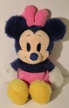 "Disney Store Plush 9"" Sitting Springtime Minnie Mouse Pastel Stuffy HTF ... - $9.85"