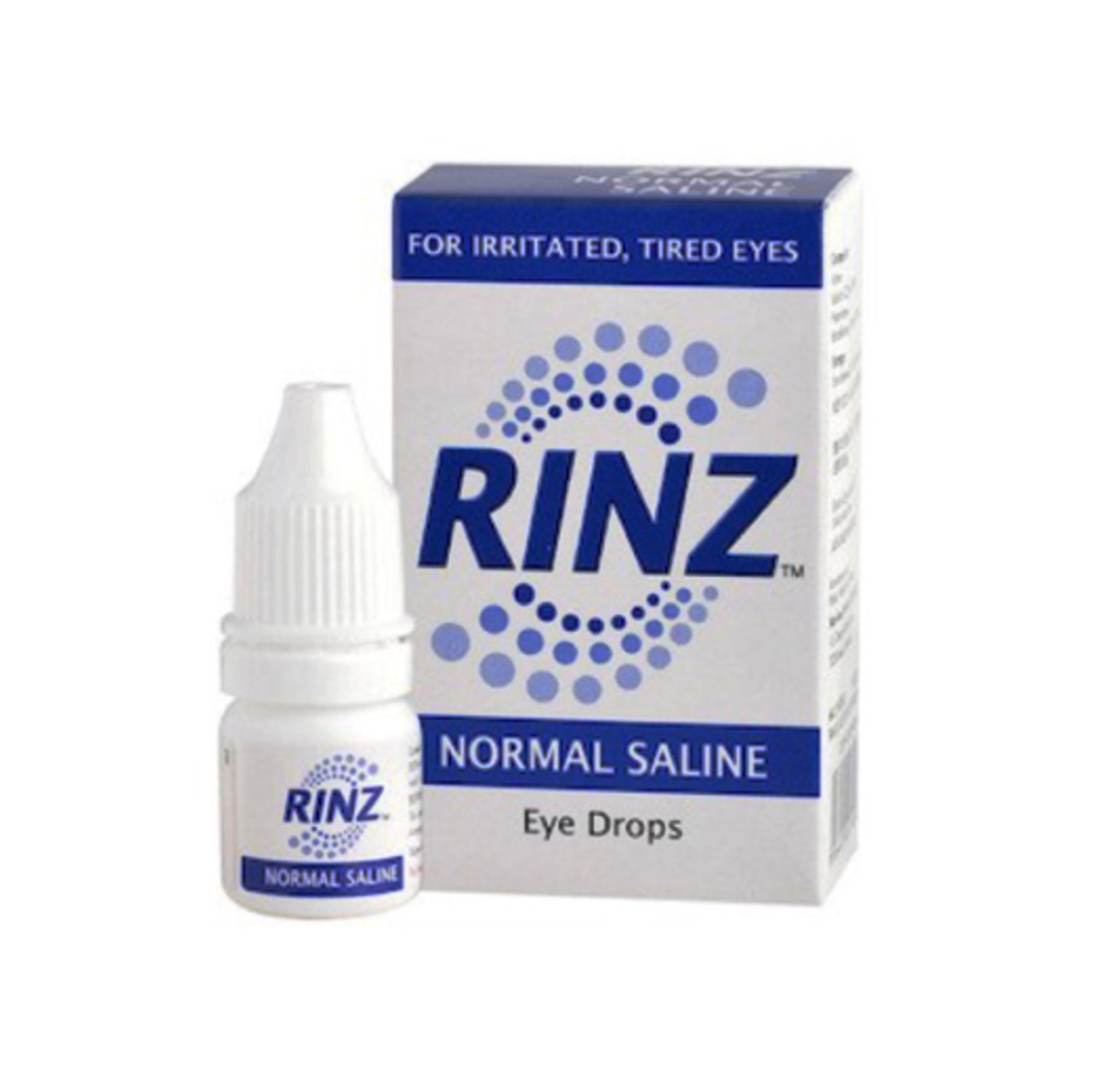2 bottles Rinz Normal Saline Drops 5ml For Irritated & Tired Eyes