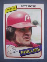 Pete Rose 1980 Topps #540 Philadelphia Phillies - $6.44