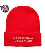 Made in USA, Donald Trump Make America Great Again Embroidered Cuff Fold... - $19.98
