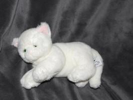 """Sophie White Kitten Cat Plush Russ Berrie Green Eyes 8"""" 24040 stuffed Be... - $39.59"""