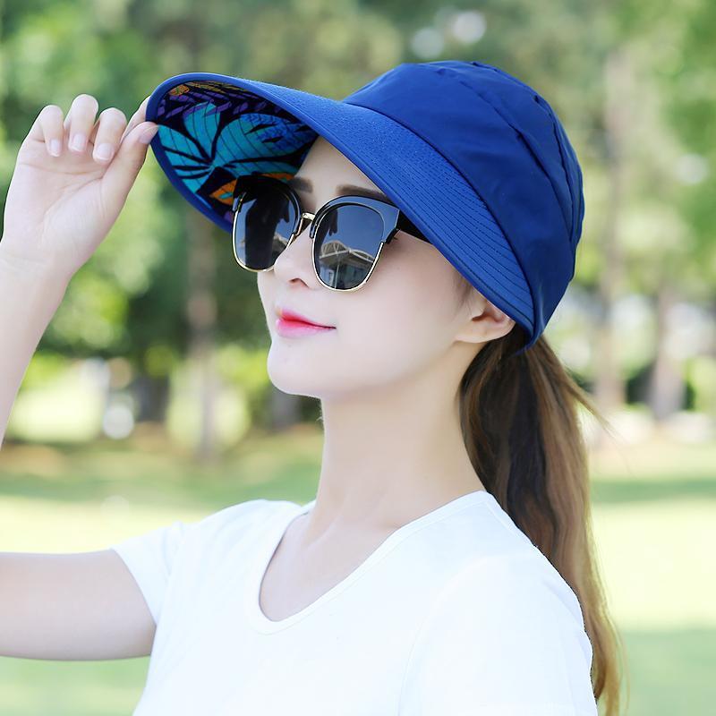 Floral Sun Hats for Women Summer Wide Large Brim Floppy Beach Folding Sun Protec image 4