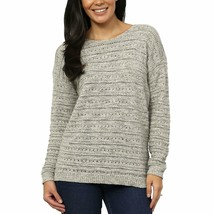 NEW Women's Leo & Nicole Ladies' Pointelle Sweater Opus Grey