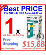 ACCU CHECK Active 50 Test Strips BRAND NEW Stock - $15.88