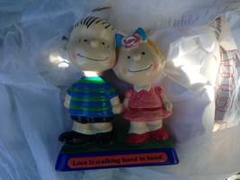 "Vintage Peanuts Snoopy Linus & Sally ""Love Is Hand In Hand"" Figurine 1970 - $48.51"