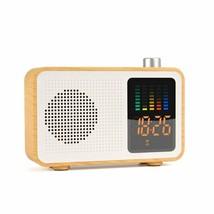 Yseechens Portable Bluetooth Speaker Retro Fm Radio With Alarm Clock Ste... - $21.10