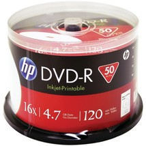 HP DM16WJH050CB 4.7GB Printable DVD-Rs, 50-ct Spindle - $28.06