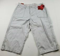 Lee Sinfully Soft Womens Skimmer Pants Sz 10 Tan Capri Pedal Pushers Str... - $34.93
