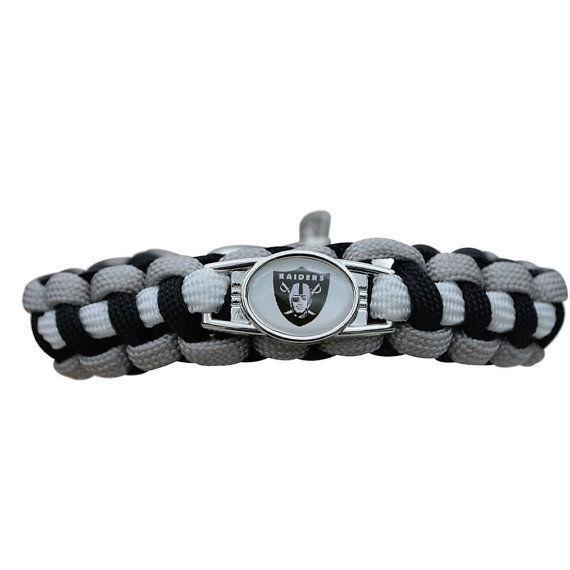 Unisex Oakland Raiders Bracelet, Raiders Jewelry, Raiders Gift Football Bracelet for sale  USA