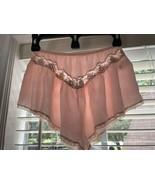 Vintage CHRISTIAN DIOR Sheer Lace Frilly Satin Panties Sleep Boy Shorts ... - $55.43