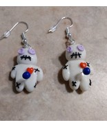 Unique Valentine Voodoo Doll Earrings Silver Wire Charm Valentine's Day ... - $6.00