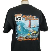Harley Davidson Cooler by the Lake T-Shirt XL Route 43 HD Sheboygan WI B... - $23.89