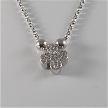925 RHODIUM SILVER JACK&CO NECKLACE WITH FOUR LEAF CLOVER PENDANT MADE IN ITALY image 2
