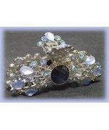 Hair Clamp Blue Lavender Crystals & Stones Moonburst Sunburst Striking! - $22.99