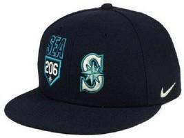 Seattle Mariners MLB Nike True Area Code Flat Bill Snapback Hat - $18.76