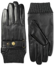 $80 Isotoner Men's Leather Snap-Cuff Driving Gloves, Size: Large - $39.99