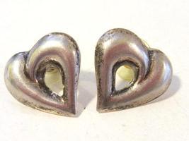 Sterling silver 925 heart earrings - $15.00