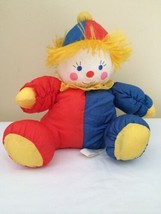 "Vintage Prestige Nylon Clown Stuffed Toy Red Blue 1990 12"" - $29.69"