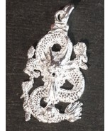 New Solid Anti tarnished 925 Sterling Silver Zodiac Dragon Pendant ( mm) - $39.73