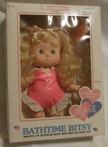 Rare New Vtg Bathtime Bitsy Bathtub Suction Cup Baby Doll Horsman Box Blonde - $15.44