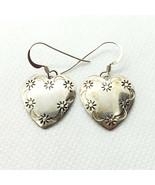 Alison Tohee Native American Sterling Silver 925 Moon Stars Heart Earrings - $79.99