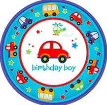 Amscan Birthday Boy Plates 7 Inch Blue Official Party Supplies - $12.83
