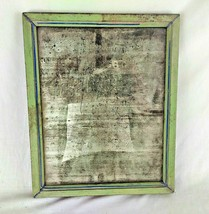 VINTAGE OLD WOODEN WELL FRAMED WALL HANGING DRESSING BELGIUM MIRROR M3 - $73.28
