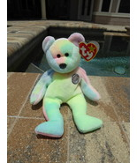 TY Beanie Babies Baby Birthday Bear Tye Died Retired Collectible  - $3.50