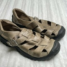 KEEN Size 6 Sandals Tan Leather Buckle Fisherman Sandals Closed Toe - $16.14
