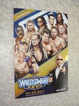 WWE Program WWF Wrestling Wrestlemania XXVII 4/3/11 The Rock Dwayne John... - $28.99