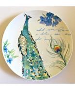 """Peacock Ceramic Plates Salad Dessert Lunch Bread Set of 4 Prima Design 8.5"""" - $44.44"""