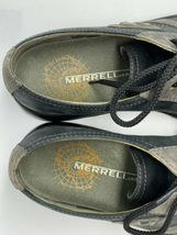 Merrell Mens 10 Charcoal Black Oxford Lace Up Leather Shoes image 7