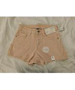Arizona Women's Juniors Denim Hi Rise Shortie Short Size 15 Cutoff Tranq... - $23.75