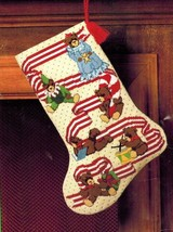 "TEDDY BEAR CHRISTMAS Needlepoint Stocking Kit Vintage Sunset 17"" 1986 USA - $111.90"