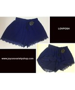 Lovposh Loungewear Casual Shorts Lace Royal Blue NWT Multiple Sizes - $11.99