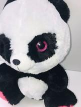 "Fun and Fun Toys Panda Bear 15"" Black White Plush Pink Eyes Paws Stuffed... - $25.73"