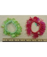 Stretchy Bracelets Hair Ties Qty 6 Pairs Sequins Plastic Beads Beautiful - $13.86