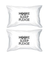 Moore Sleep Please Funny Statement Pillowcases - Funny Heart Degisn Pill... - $35.99