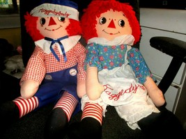 """25"""" Raggedy Anne and Andy Playpal Sized Piroette Dolls 1983 Applause Min... - $0.98"""