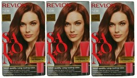 (Pack of 3) Revlon Salon Color 5RM Warm Mahogany Color Booster Kit Gray Coverage - $44.54