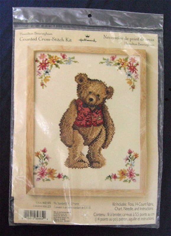 Primary image for HALLMARK HAMILTON BEARINGHAM COUNTED CROSS STITCH KIT NIP FOR 8 x 10 FRAME