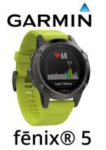 Garmin Fenix 5 Slate Gray Watch Amp Yellow Band GPS Fitness Multi Sport ... - $639.00