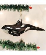 Orca Whale Glass Ornament - $24.95