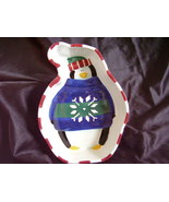St Nicholas Square Penguin Candy Dish Retired 1998 - $32.00