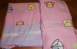 Disney Pooh Cuties Twin Flat & Fitted Bed Sheet Set Pink - $19.34