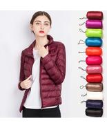 Stand Collar Women Down Jacket Winter 90% duck down coat ultra light out... - $75.20
